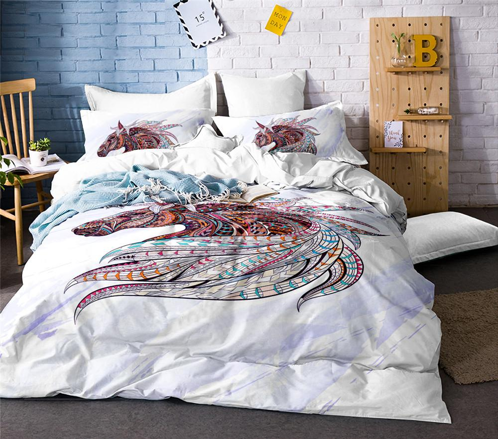 5b8338f1a5da Cute Unicorn Bedding Set Cartoon Duvet Cover Twin Full Queen King Size  Bedclothes King Duvet Set White Comforter Sets Queen From Industrial