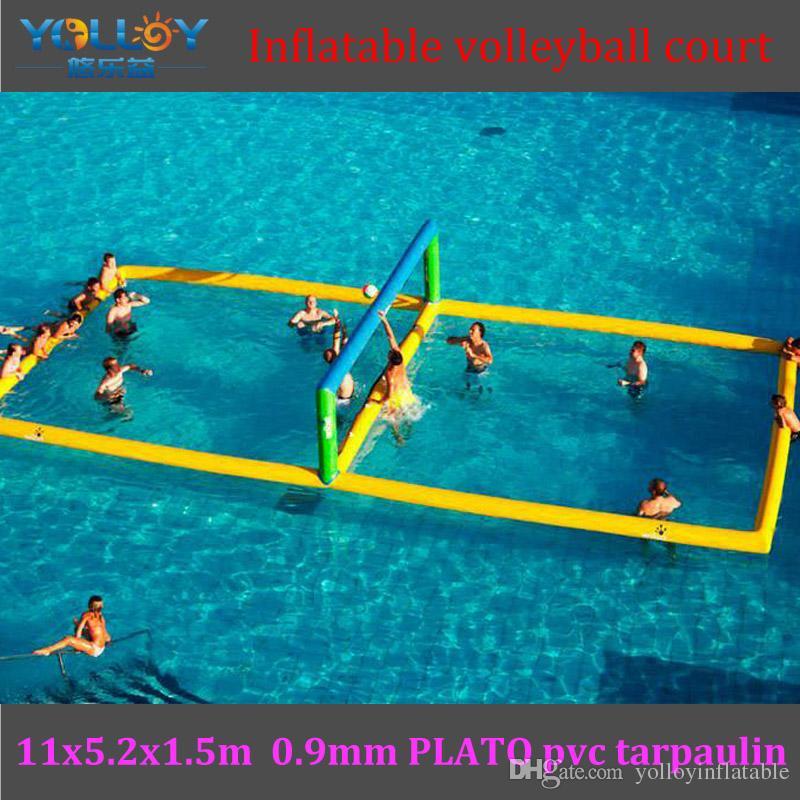 Compre Cancha De Voleibol Inflable Flotante De Agua Duradera 11x5