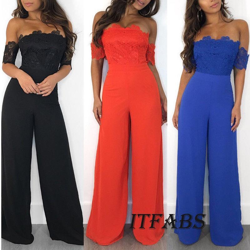483831d639 Women Off Shoulder Clubwear Playsuit Casual Short Sleeve Lace Party  Jumpsuit Romper Sexy Women Clothes Leotard Short Evening Dresses Short Party  Dresses ...