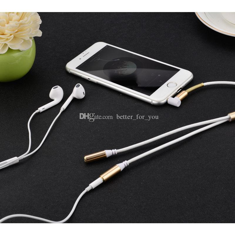 Aux Splitter 3.5 mm 1 Male to 2 Dual Female Headphone Audio Plug Y Splitter Adapter Cable Earphone Headset for Samsung Phone