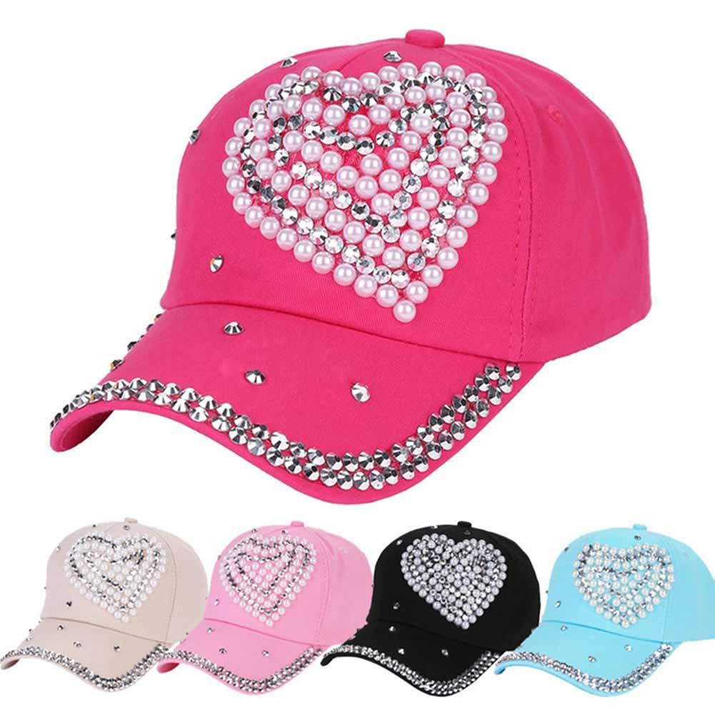 Rhinestone Baseball Cap Lady Children Girl Women Heart Shape Bling Bling  Diamond Hat Gorras Snapback Hat Casquette Custom Hat Caps For Men From  Fotiaoqia dd4966b0716c