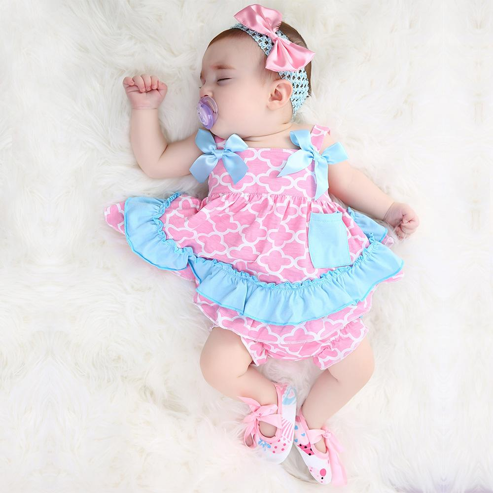 db7cf84f5f66 2019 2019 Newest Baby Swing Top Baby Girls Clothing Set Infant Ruffle  Outfits Bloomer Headband Newborn Girl Clothes Sets From Singnice