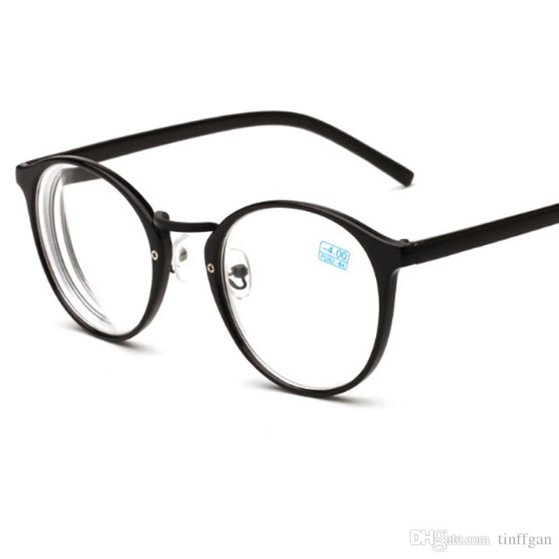 3938b125872 Good Quality Round Finished Myopia Eyeglasses New Optical Men Women Student  Eyewear Prescription AC Lens Glasses Frame 1.0 1.5 2.0 4.0 Eyeglasses Frames  For ...