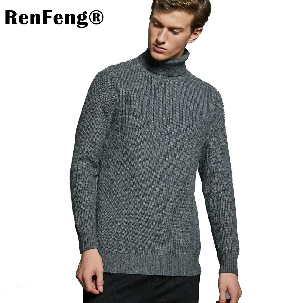 a140ae502 2019 High Neck Sweater Jumper Men Winter Long Sleeve Solid Knitted Sweaters  Pullover Tops Blouse Turtleneck Men Knitwear Sweater Male From Xisibeauty