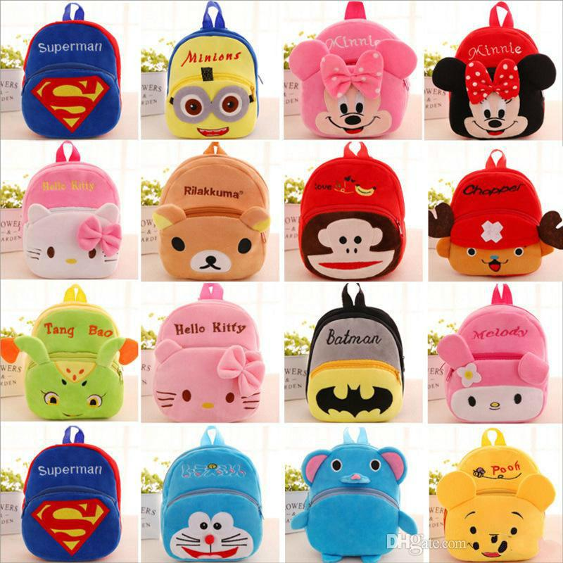 9b3430734352 New Children Plush Backpack Cartoon Bags Kids Baby School Bags Cute Hello  Kitty Schoolbag For Kindergarten Girls Gift Womens Backpacks Pink Backpacks  From ...