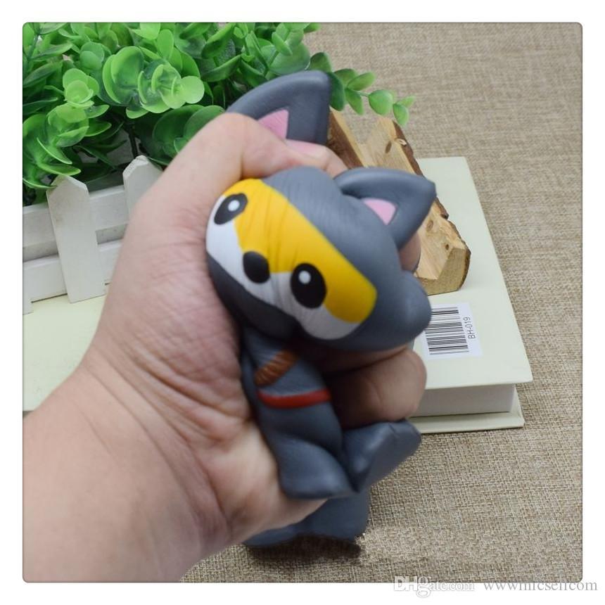 Decompression Squishy Toys Ninja Panda Fox kawaii Squishies Slow Rising Super Soft Jumbo Squeeze Phone Charms Toy