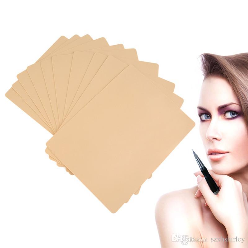 Mode Body Art Tattoo Praxis Haut Makeup Augenbraue Lippen 20X15 cm Blank Tattoo Praxis Haut Blatt für Nadel Maschine Permanent Supply Kit