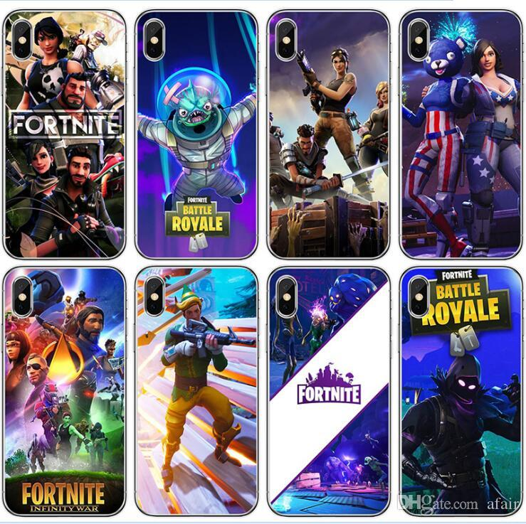 fortnite cell phone case fps game designer soft tpu cases back cover for iphone xs max xr x 8 7 6 plus samsung note 9 phone cases cell phone cases covers - fortnite cover pc