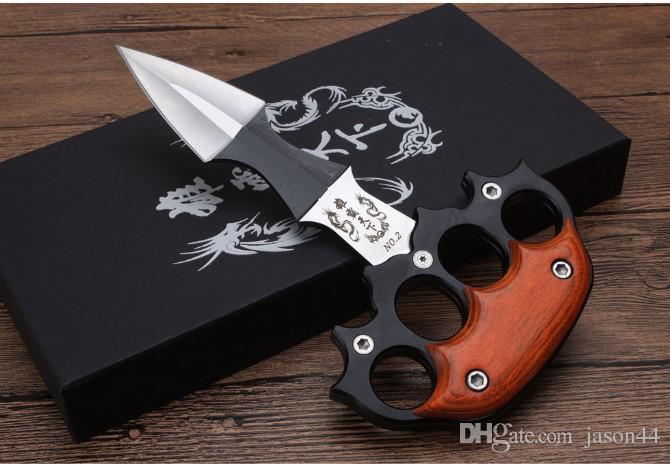 NUEVO cuchillo de empuje 2 modelos de alta calidad al aire libre engranaje uno ajustable cuchillo de empuje mango hueso bolsillo trasero de bloqueo herramientas de corte cuchillo Plegable
