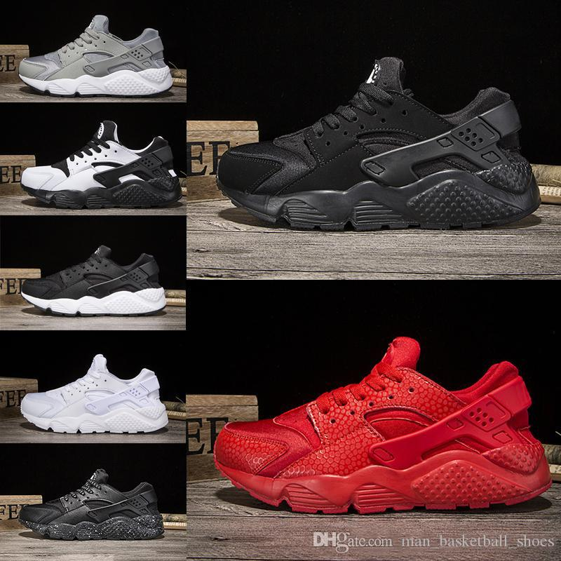 82e7b6598 Newest Huarache Men Women Classic Triple White Black Red Grey Gold Running  Shoes Huaraches 1.0 Runner Athletic Sport Shoes Outdoor Sneaker Sale Shoes  Men ...