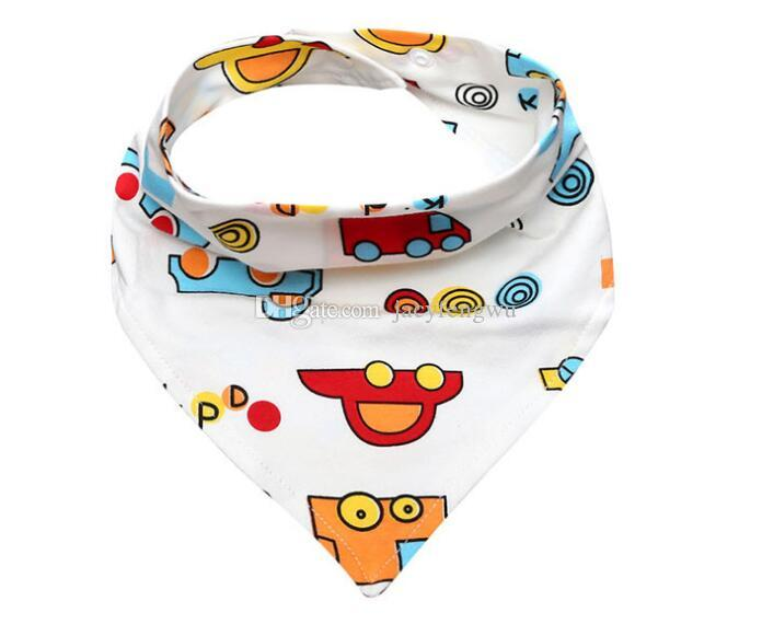 New Baby Bibs Feeding Towel Triangle Burp Cloths Cartoon Infant Toddler Bandana Scarf thin Summer Kids Nursing Bib Cotton BB035