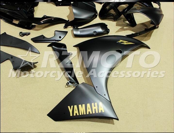 3 kostenlose geschenke Komplette Verkleidungen für Yamaha YZF 1000-YZF-R1-12-13-14 YZF-R1-2012-2013-2014 Motorrad-Verkleidungskit matt schwarz s4