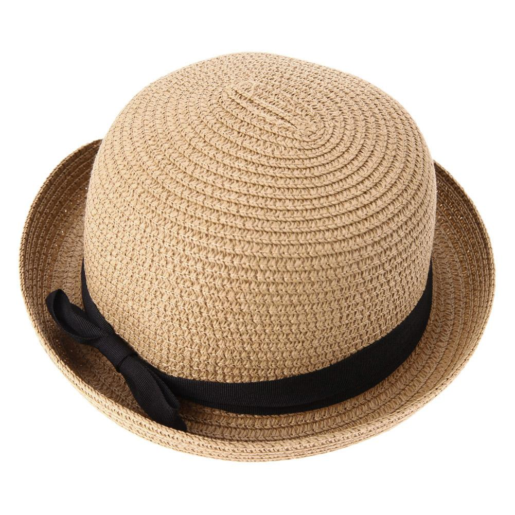 fc91a238 Wholesale Fashion Straw Lady Sun Hat Women Travel Outdoor Fold Spring Summer  Beach Hat Girls Casual Ribbon Round Flat Top Cap Hats For Men Sun Hats From  ...