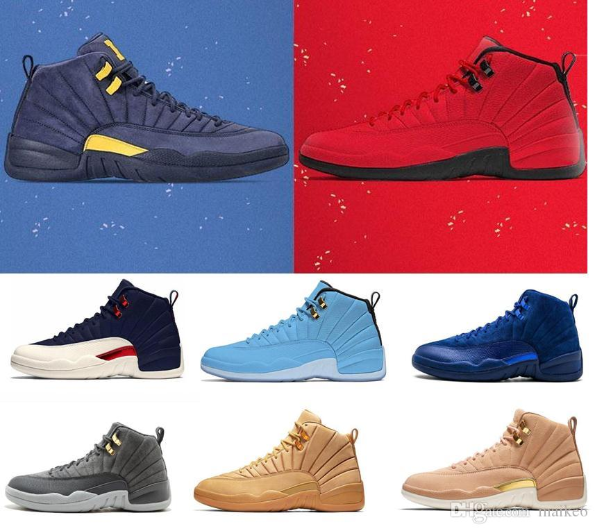 Remote Control Toys High Quality Jordan 12 Men Basketball Shoes Doernbecher Rose Red Black Playoff White Blue Cushion Bordeaux Outdoor Sport Shoes
