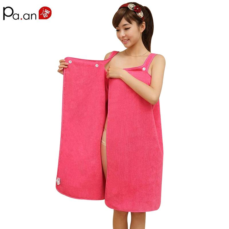 a7cfd107cb Women Bath Towel Wearable Microfiber Fabric Beach Towel Rose Red Soft Wrap Skirt  Towels Super Absorbent Home Textile Hot Sale Kids Bath Towels Cannon Towels  ...