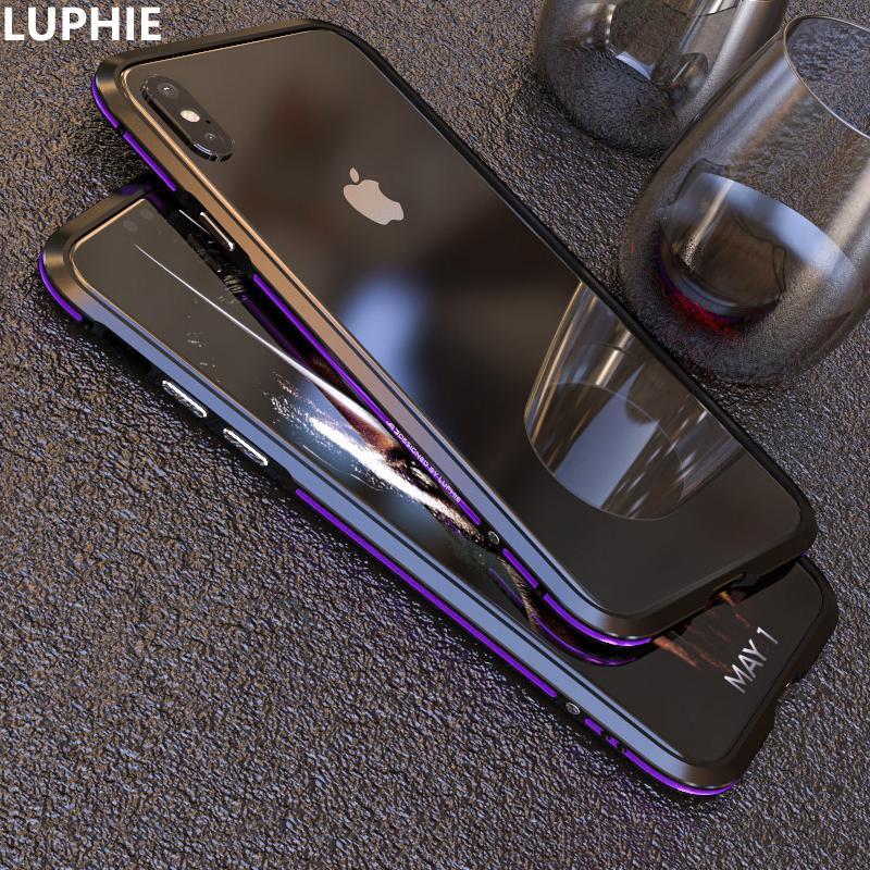 fd00ac800af Carcasas Movil Para El IPhone XS Max Funda De Lujo Lindo Delgado De Metal  De Aleación De Aluminio Armadura A Prueba De Golpes Funda Del Teléfono Del  ...