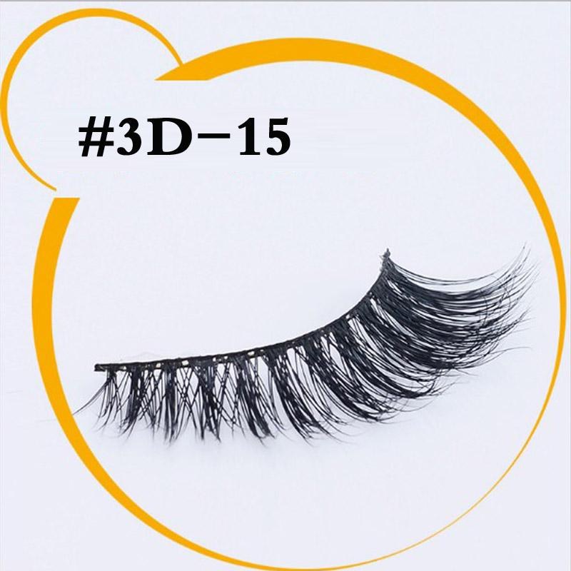9 Styles 3D mink eyelash 100%real mink Handmade Crossing lashes individual strip thick Natural lash with package