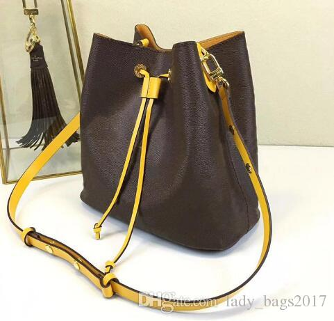 Classic Real leather shoulder bag Tote Women handbags presbyopic shopping bag Bucket purse messenger bag Shopping bags