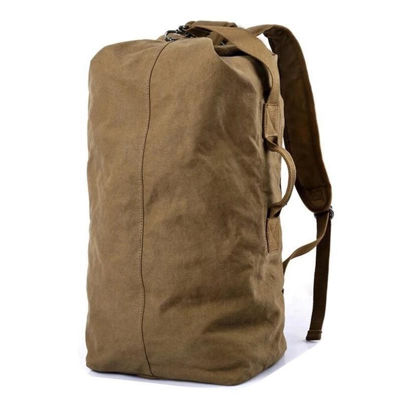 cc0a00bb170e7d Backpack men drawstring bag large capacity Canvas Shoulder bag men's  shoulders across the portable multi-functional bags