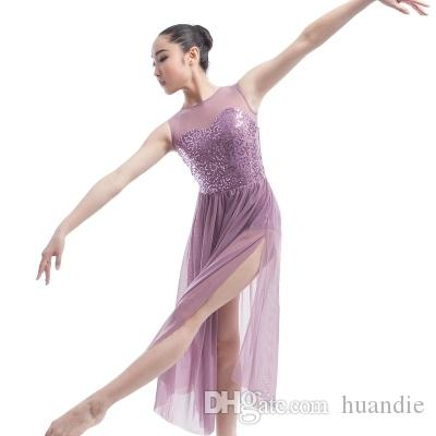 880666f51059 2019 High Quality Ballet Dance Costumes Professional Ballet Dress Adult  Performances Dress Gauze Sequins Stage Clothing Contemporary Dance Dress  From ...