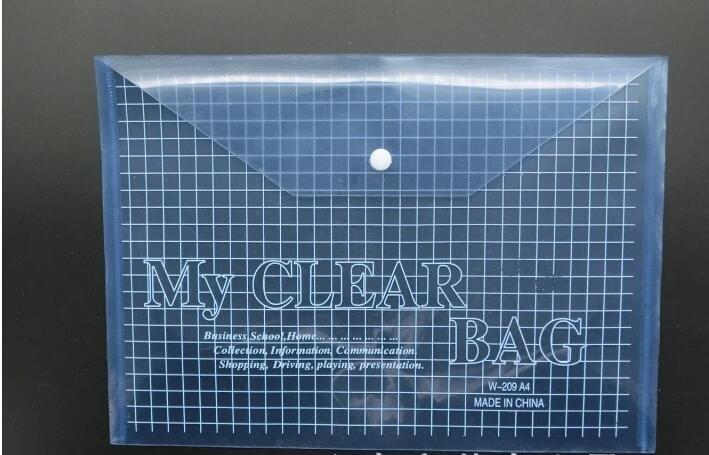 Пластмасса PP A4 файл мешок мешок карандаша с застежкой прозрачности гриддинга файл мешки можно подгонять распечатать шаблон и размер