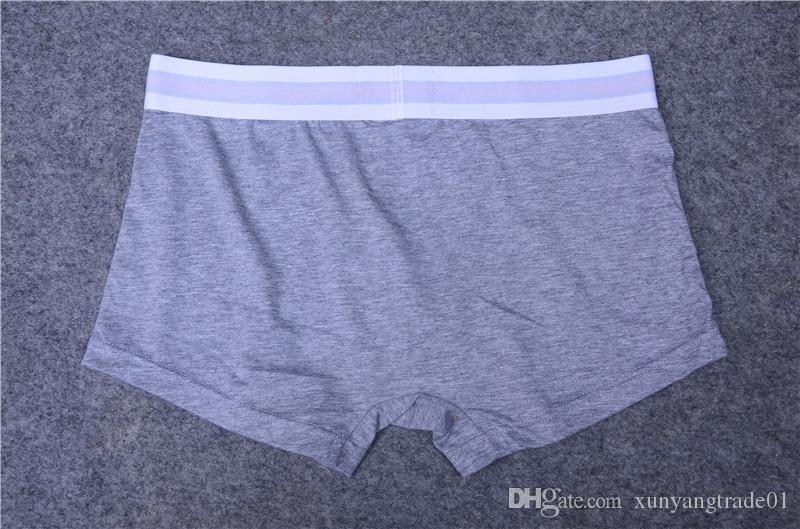 Fashion Brand Mens Underwear Boxers Letter Sexy Soft Cotton Underpants Sports Casual Underwears For Men Boys 4 Size 64
