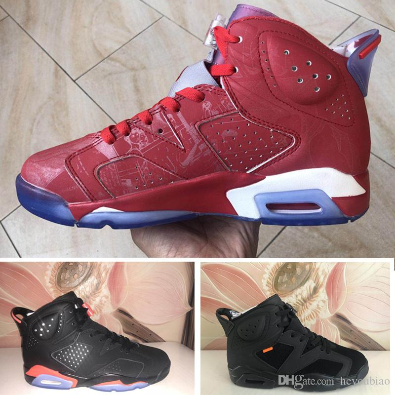 sneakers for cheap 2152a bb536 6S Infared Mens Basketball Shoes Black Red 6 Hare Sneakers Outdoor Sports  Trainer Tennis Shoes With Box Size 41-47 Men Sports Shoes Men Sneaker  Online with ...