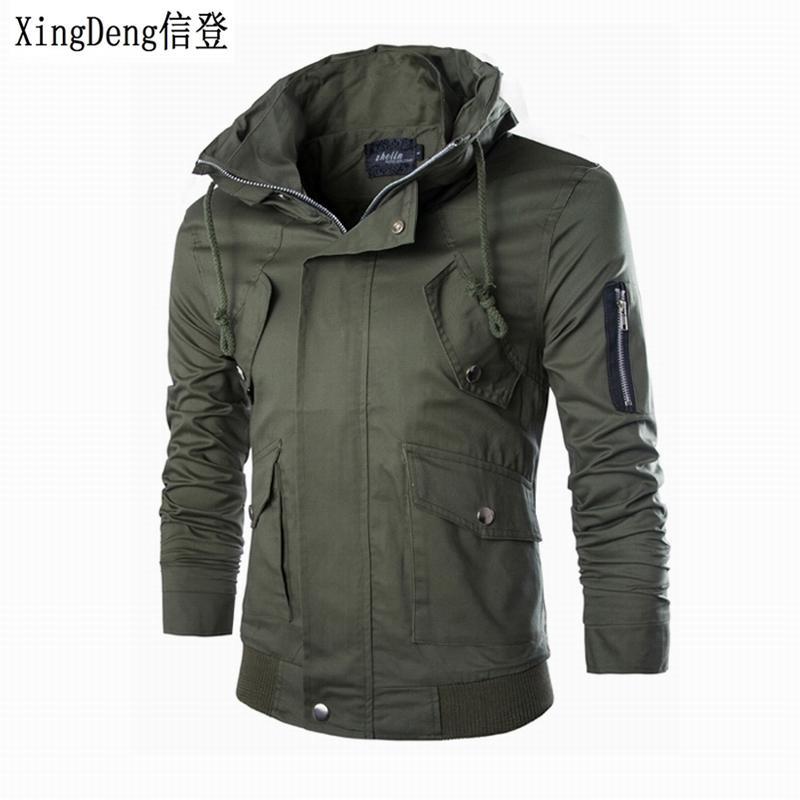 83cdde70aa6878 Großhandel Xingdeng 2018 Marke Männlich Mode Jacke Slim Fit Hohe Qualität  Reißverschluss Warme Baumwolle Top Mantel Mens Herbst Kleidung Mann Jacken  Von ...