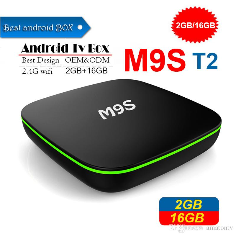 2019 M9S T2 Android 7.1 TV Box 1GB 8GB 2GB 16GB eMMC Flash 4k Allwinner H3 Streaming Media Player BETTER Amlogic S905W TX3 X96 MINI 4k T95Z