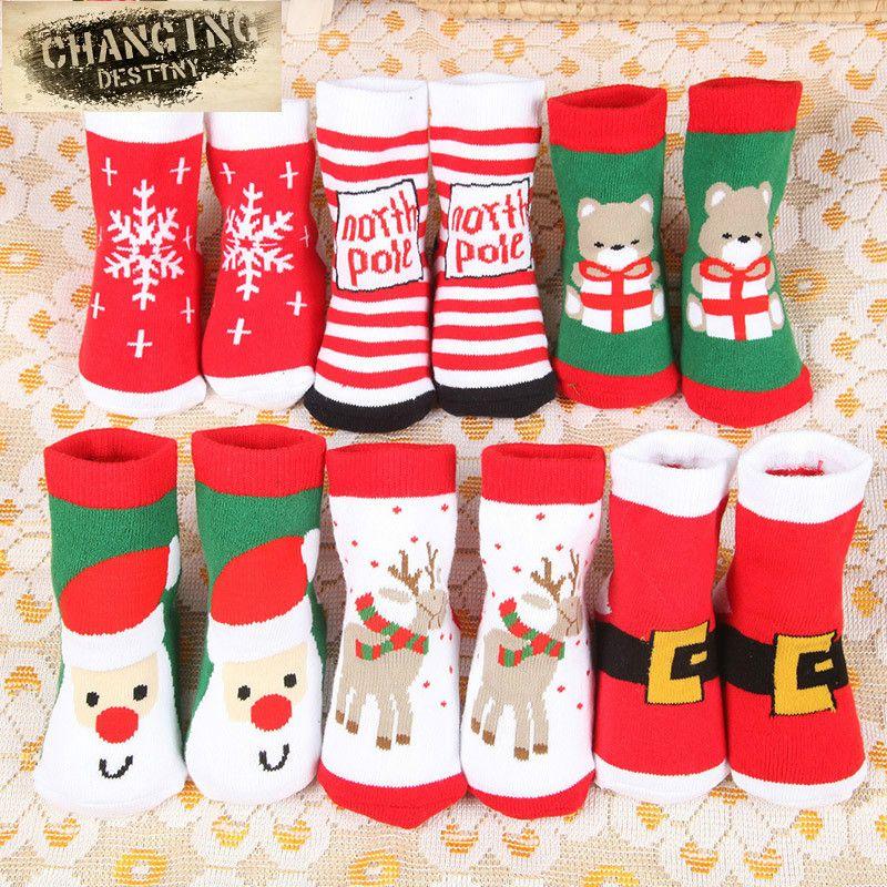 Großhandel 10 Paare / Los Weihnachten Themen Kinder Reiner Baumwolle ...