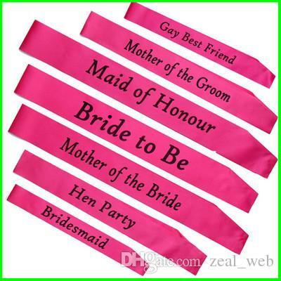 Am billigsten!!! Bachelorette saches Brautjungfer Sashe Braut, zum des Brautparty-Gastgeschenk-Geschenk-Dekorations-Versorgungsmaterials zu sein