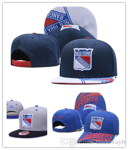 c26405b8480 New York Rangers Ice Hockey Knit Beanies Embroidery Adjustable Hat  Embroidered Snapback Caps Blue White Gray Black Stitched Hats One Size Hats  Online Cap ...