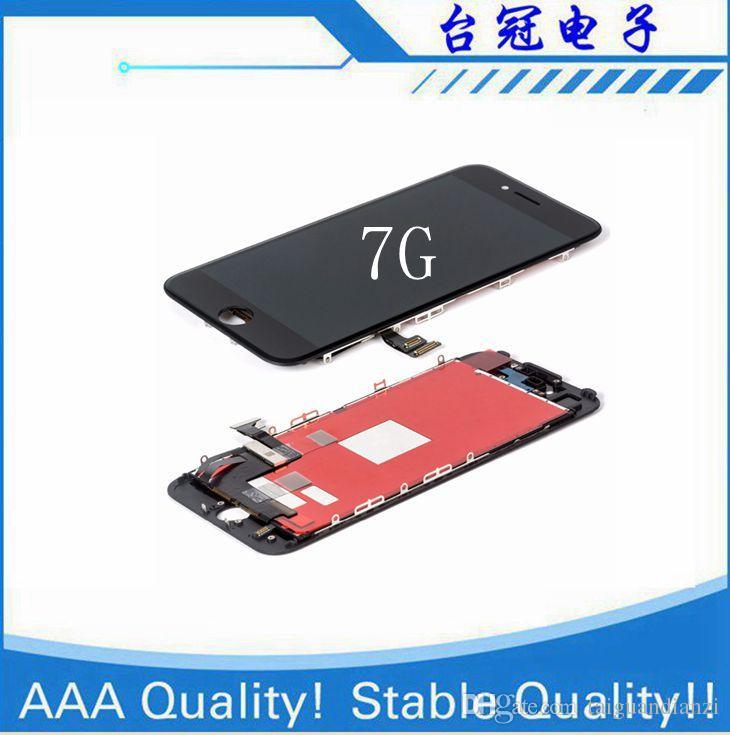 IPhone 7 Için orijinal LCD Için Lcd Ekran iphone 7g Lcd Dokunmatik Ekran Digitizer Meclisi Ile 100% Testi, ücretsiz teslimat
