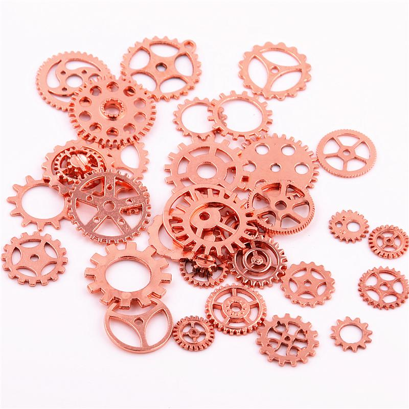 Wholesale Sweet Bell Mix Rose Gold Charms Gear Pendant Antique