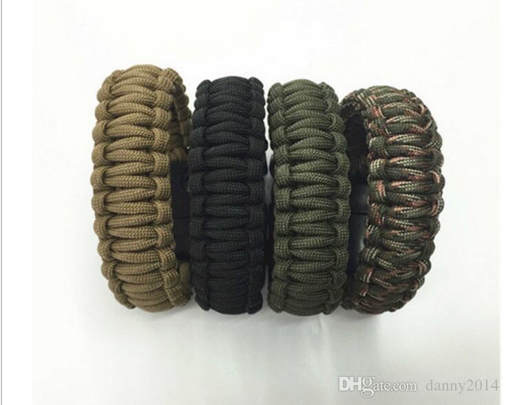 Self-rescue Paracord Parachute Cord Bracelets Survival bracelet Camping Travel Kit outdoor hiking camping survival Paracord bracelets