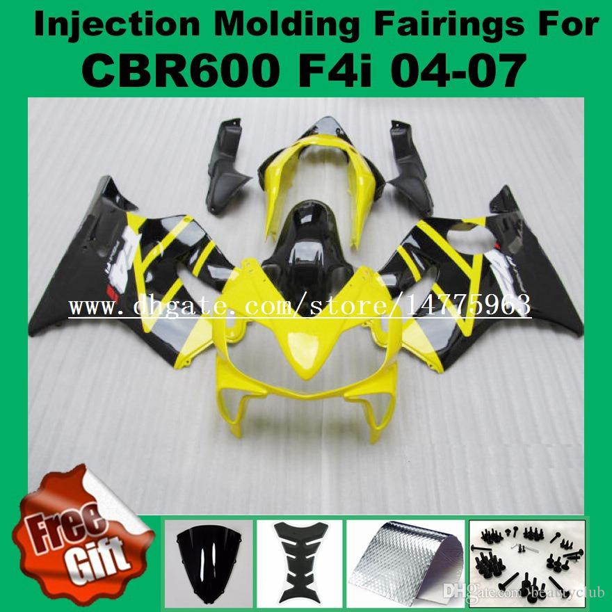Injection Fairings For F4i HONDA CBR600F4i 04 05 06 07 CBR 600 F4i CBR600RR F4i 2004 2005 2006 2007 ABS Fairing kits blue #5562-L