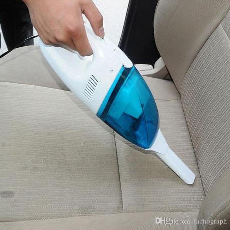 12V del coche mini aspirador portátil vehículo de alta potencia seco de doble uso mojado regalo más limpio pequeño coche azul y blanco
