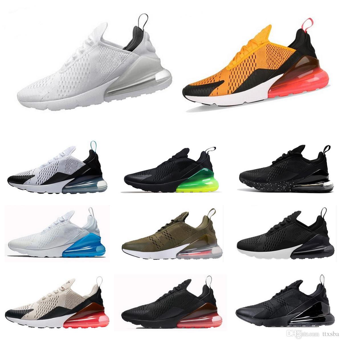 buy popular ab181 7b824 Compre 270 Para Hombre Nueva Moda 270 Zapatos Casuales 27C Zapatos Casuales  Para Hombres Mujeres Al Por Mayor Flair Triple Negro Entrenador Zapatillas  De ...