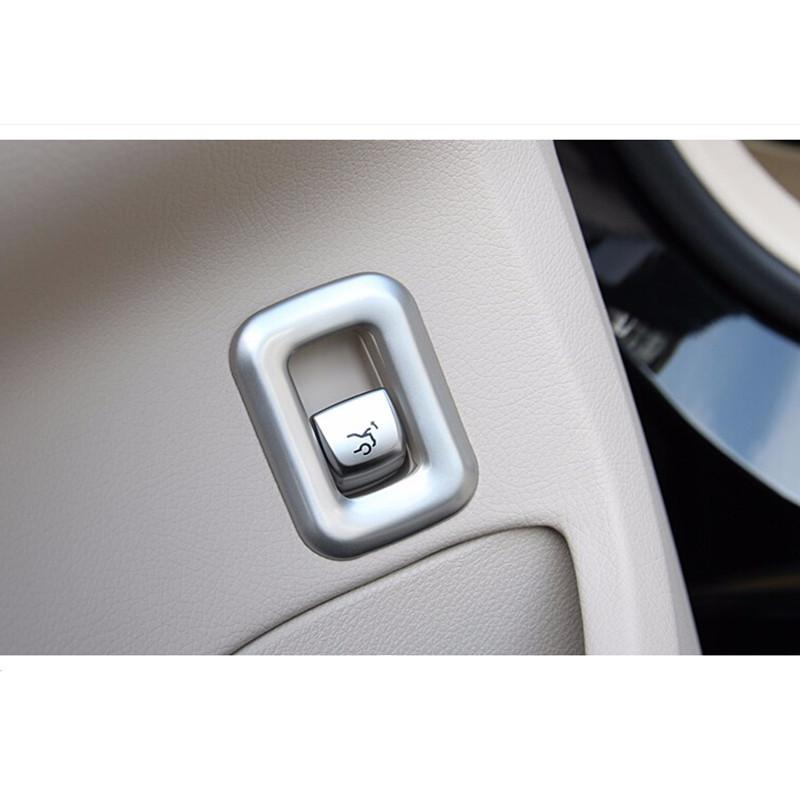 Stainless Steel Car Trunk Switch Button Decal Trim for Mercedes Benz New C  Class W205 2015-17 Car accessories