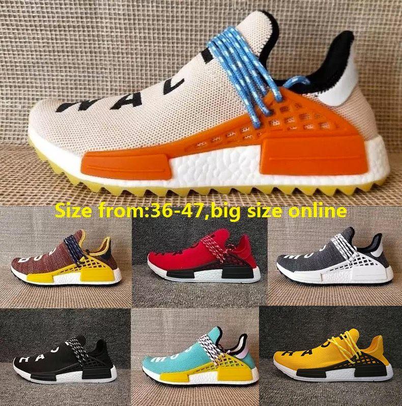 2dea3c52490c91 Discount Pharrell Williams X Human Race Running Shoes Yellow Black ...