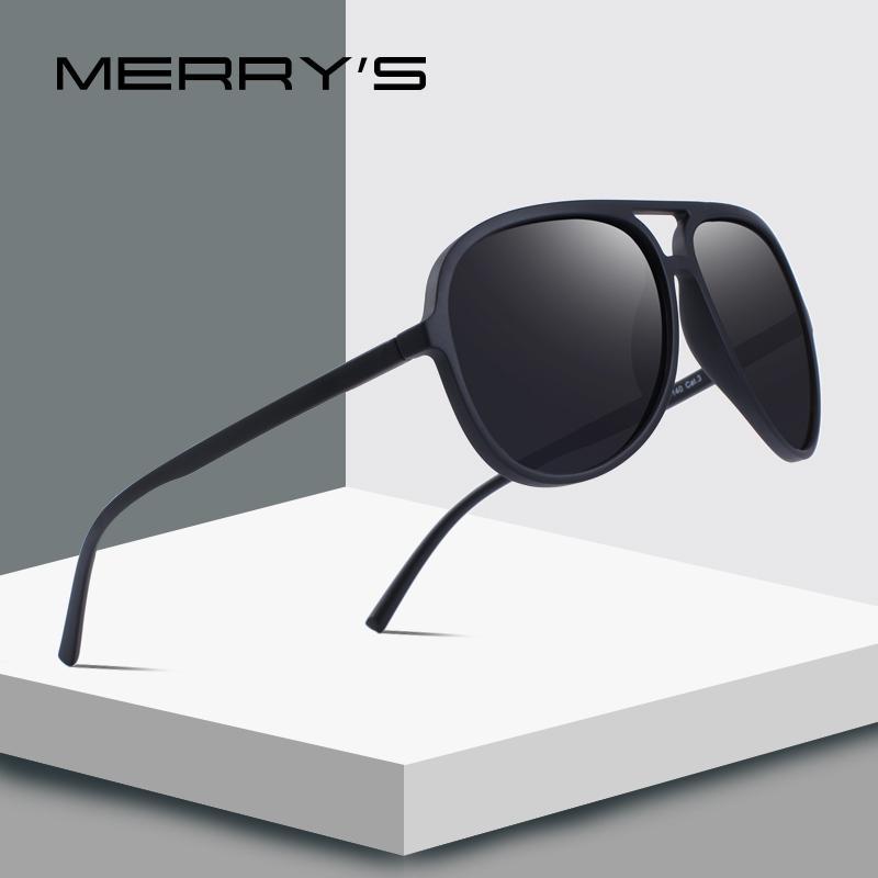6d27b702705 MERRY S DESIGN Men Classic Pilot Polarized Sunglasses Lighter Frame 100% UV  Protection S 8510 Sunglasses Case Knockaround Sunglasses From Yuijin