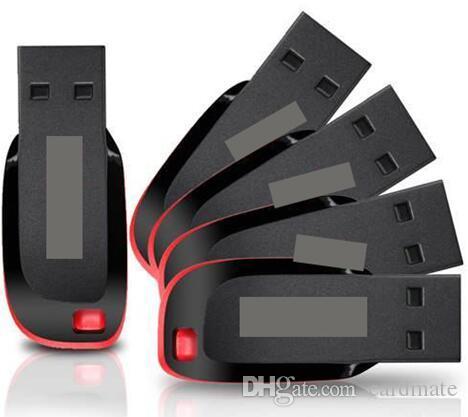 2019 Hot Selling Real Capacity USB Flash Drives 4GB 8GB 16GB 32GB 64GB 128GB USB 2.0 Memory Sticks Plastic U Disk Memory Stick High Speed