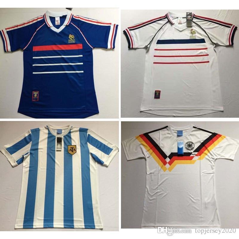 0aadd6b9d Acquista S 2XL 1990 Maglie Retrò VINTAGE CLASSIC KLINSMANN MATTHAEUS  Messico Argentina Maglia Da Calcio Francia Maglia Da Calcio Camisa De  Futebol A  14.86 ...