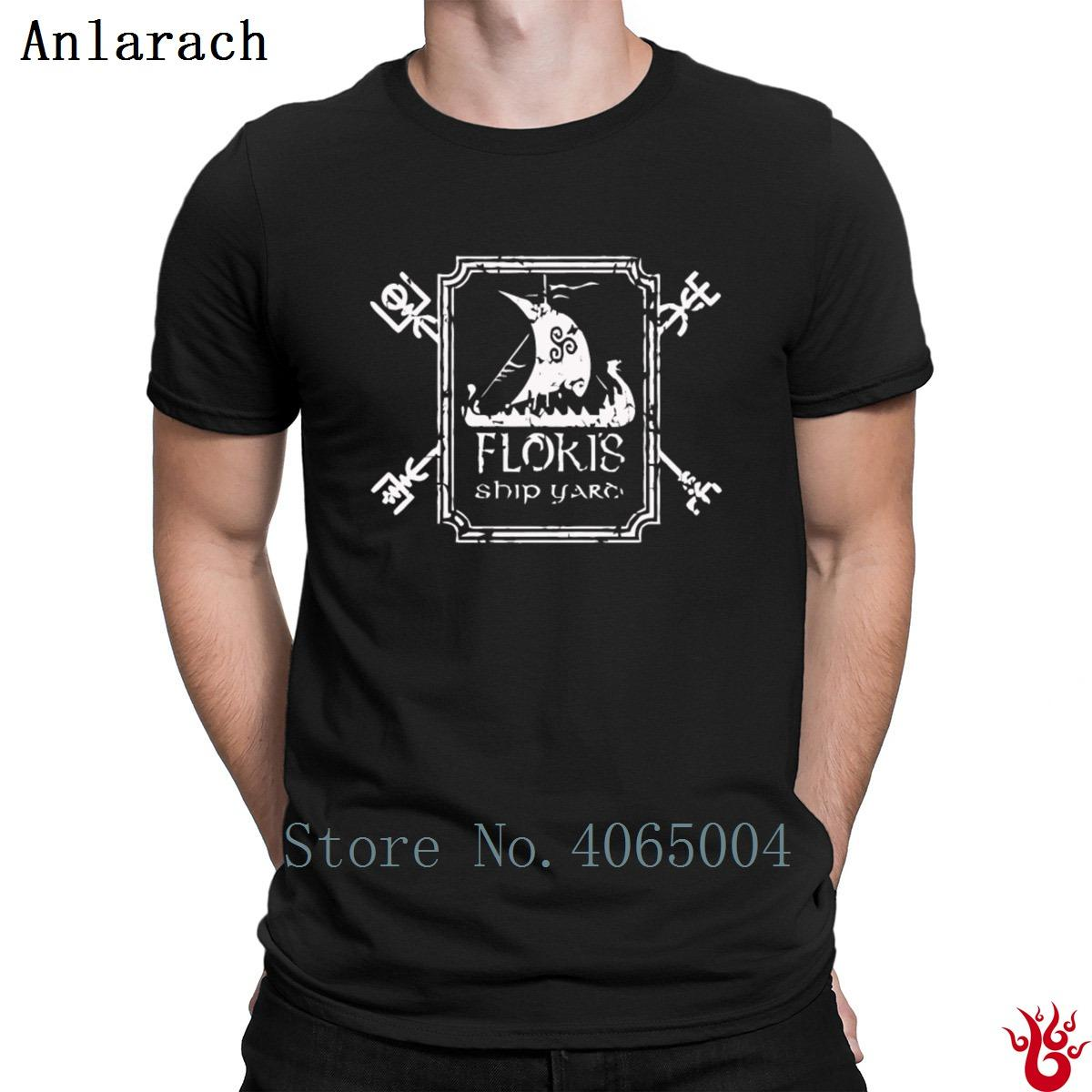 42c0dbfc6 Floki Shipyard T Shirt Original O Neck Pop Top Tee 100% Cotton Men'S Tshirt  2018 New Style Gift Solid Color Knitted Mens T Shirt Cool Tshirt Designs  From ...