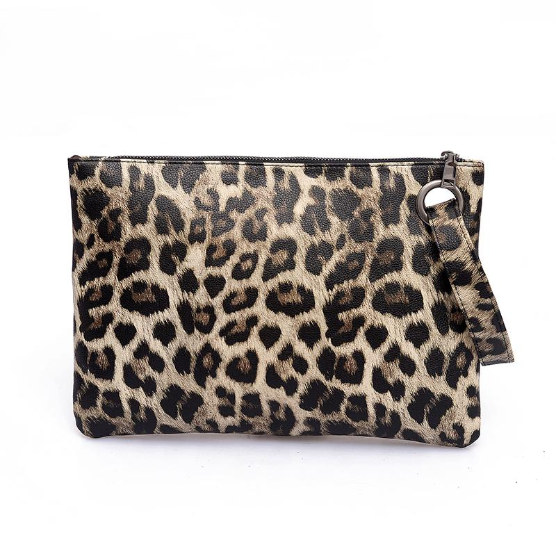 ace7f6fea155a Women Ladie Leopard Print Clutch Handbag Party Evening Envelope Clutch Bag  Wallet Tote Purse Designer Bags Hobo Bags From Twopills, $26.44| DHgate.Com