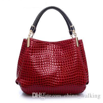 3e16305af6e Women Bag Crocodile Pattern Composite Bag Vintage Women Messenger Bags  Shoulder Handbag Purse Wallet Leather Handbags Free Ship Women Bag  Messenger Bags ...
