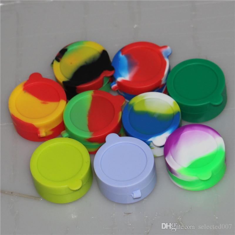 silicone wax box Containers vaporizer jars container for wax silicone jars dab wax container for glass water atomizer vhit cloupor