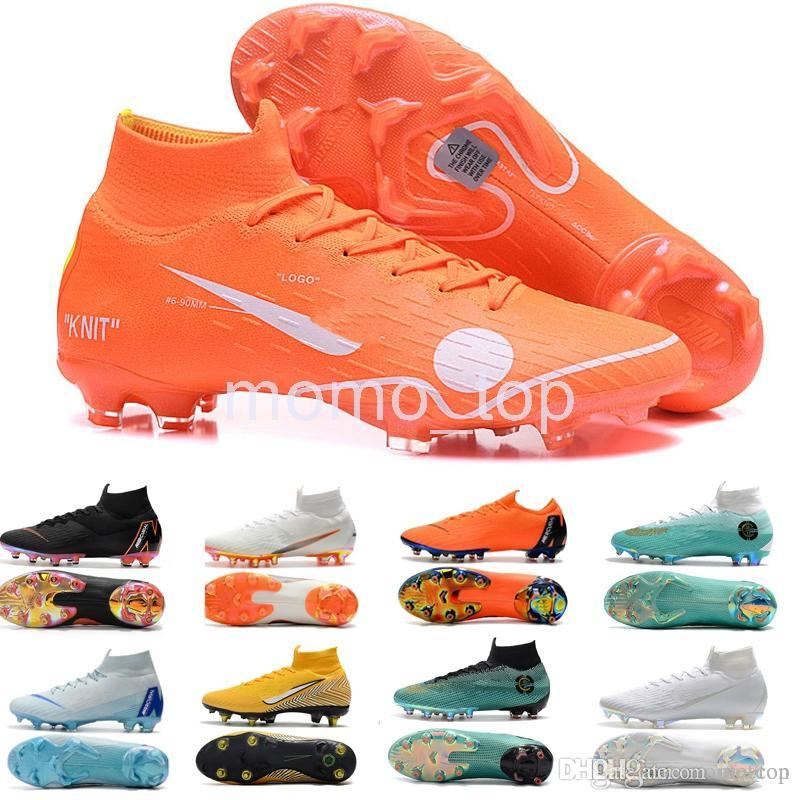 2018 Mercurial Superfly VI 360 Elite FG Kids Mens Soccer Cleats Cr7 ... 1ac69d44ec77f