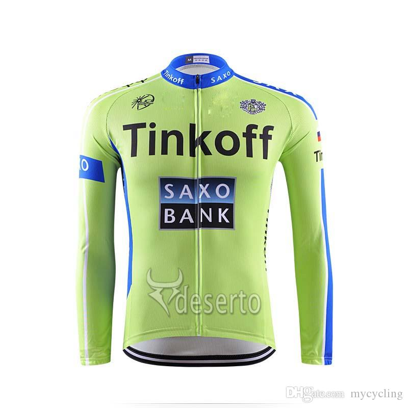 2018 Tinkoff Saxo Cycling Long Sleeve Jerseys Ropa Ciclismo 100% Polyester Quick  Dry Mens Cycling Clothing Outdoor Sportswear F2320 Tinkoff Saxo Cycling ... 4c611b29d