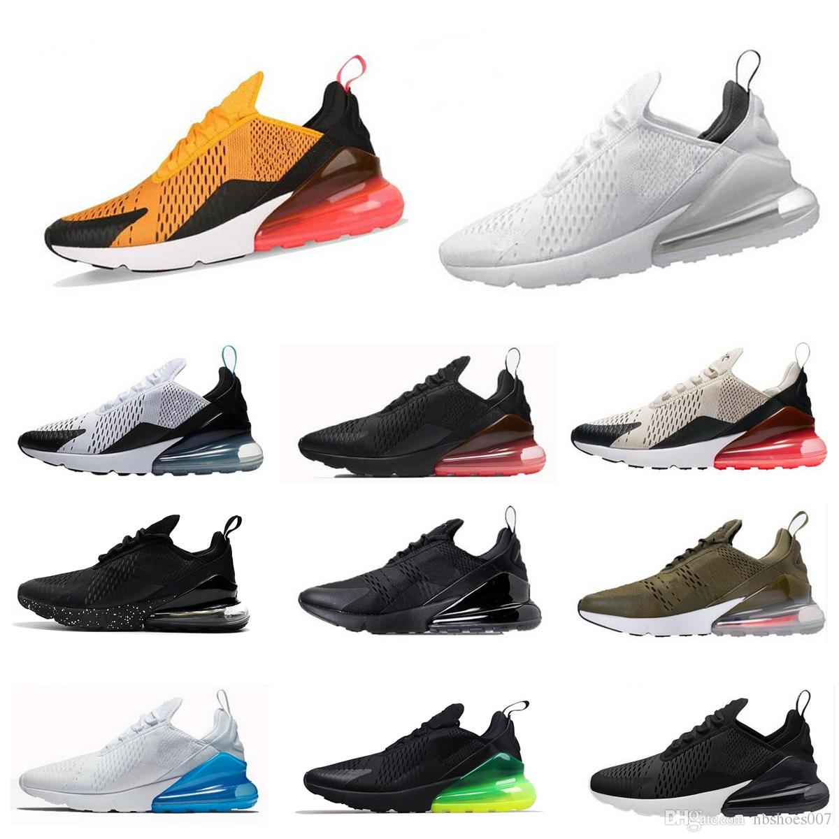 Acheter Chaude Vente 2018 Casual Chaussures Nike Air Max Airmax 270 Noir Blanc Jaune Gris Vert Rose 27c Hommes Femmes Sneakers Chaussures De Sport Eur ...